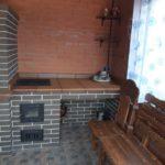 Уличный мангал печь
